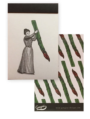 Gangzai Design Notepad - Miss Asparagus