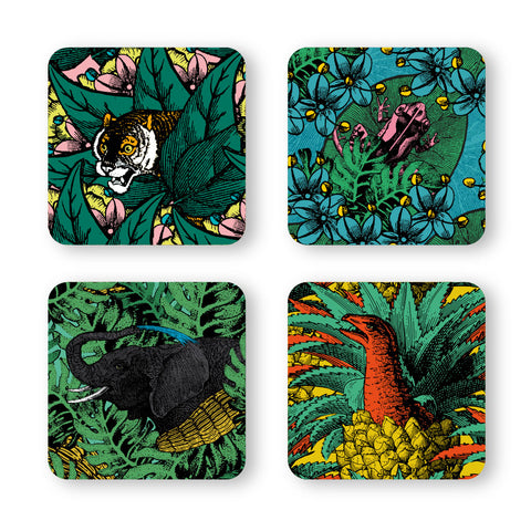 Set of 4 Coasters, Safari #1