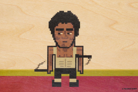 Pixel Bruce Lee Postcard