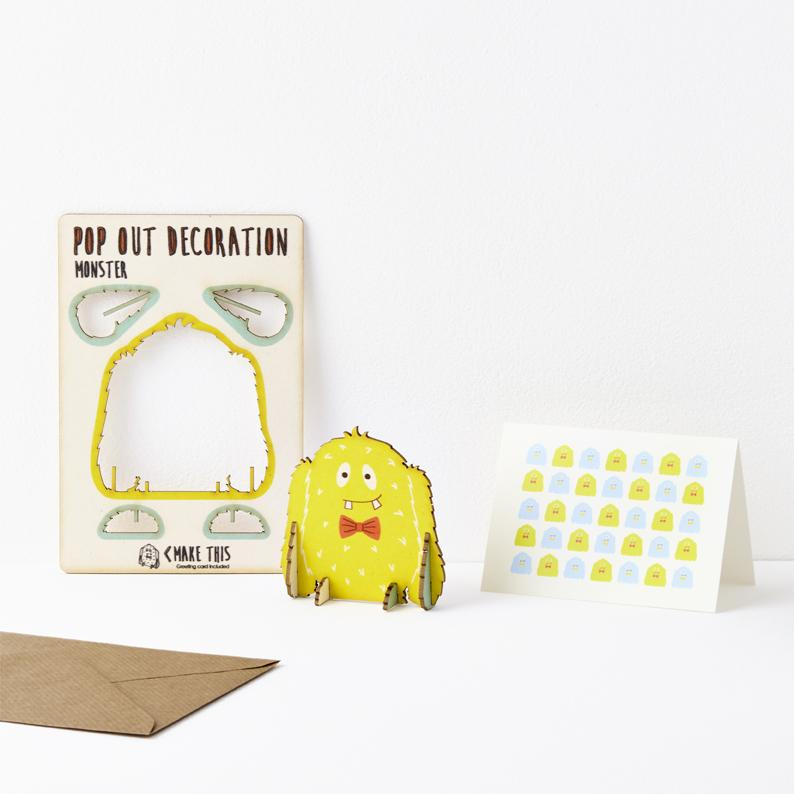 The Pop Out Card Company Pop Out Monster Card