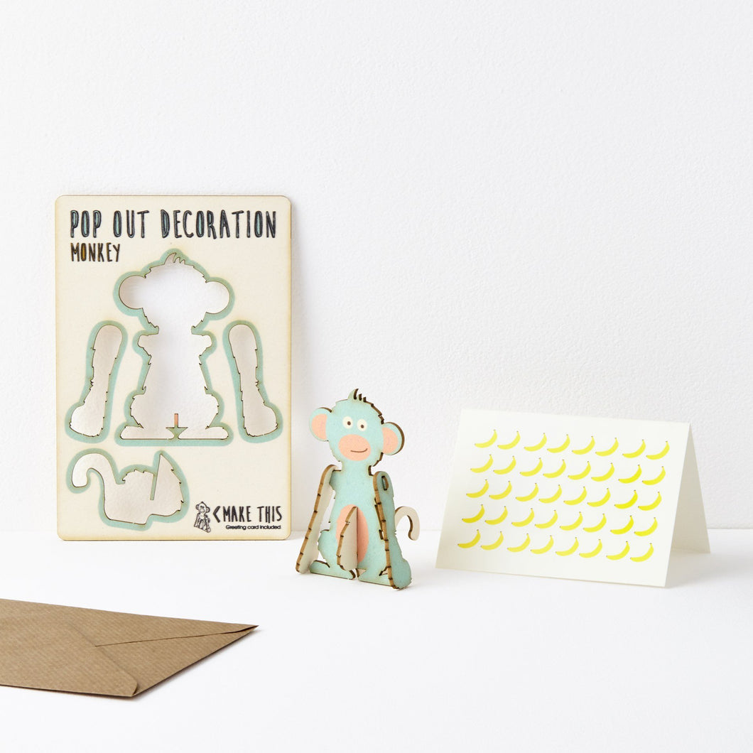 The Pop Out Card Company Pop Out Monkey Card