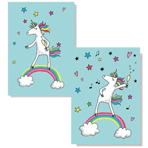 Cartes D'Art Party Unicorn 3D Postcard