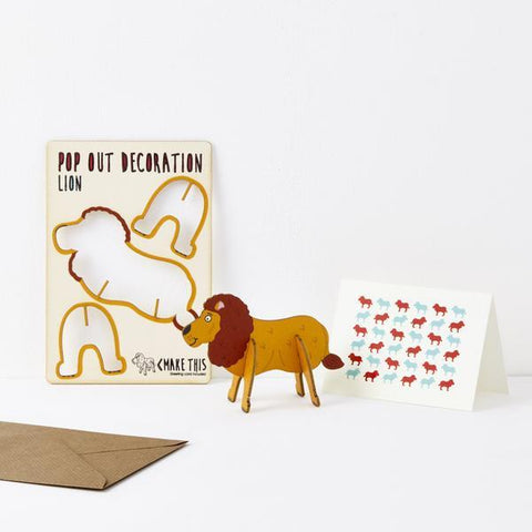 The Pop Out Card Company Pop Out Lion Card