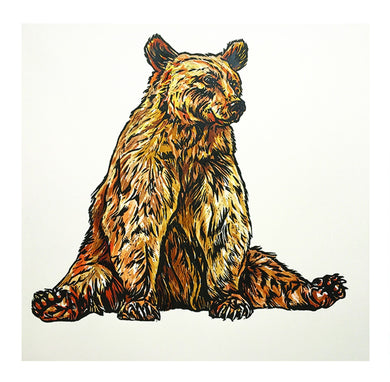 Sarah Cemmick Lino Cuts Mr Bear