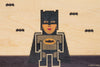 Pixel Batman Postcard