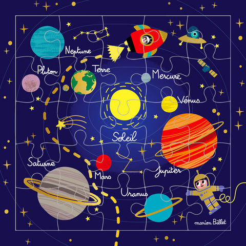 Solar System Puzzle Card (French)
