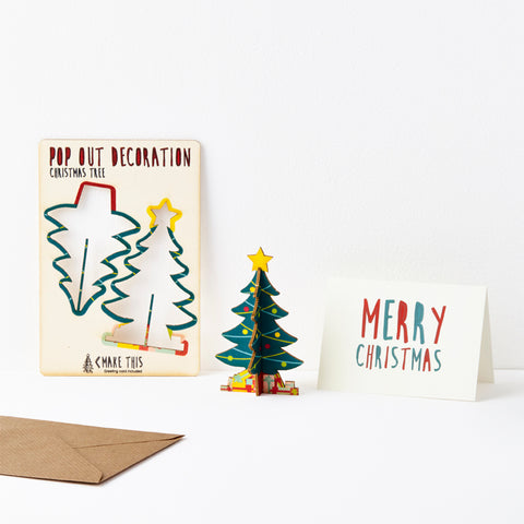 Pop Out Standing Christmas Tree Card