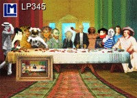 Lenticular Animation Postcard, Last Supper III