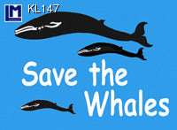 "Lenticular 3D Postcard, ""Save The Whales"""