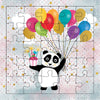 Panda With Balloons Puzzle Card