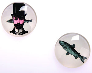 Gangzai Design Set of 2 Magnets - Aristo fish