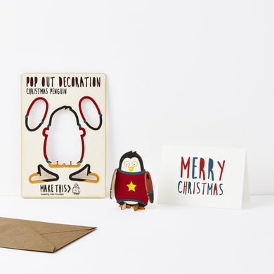 Pop Out Christmas Penguin Card