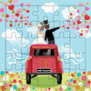 Just Married Puzzle Card