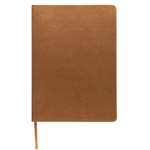 MEMMO Luxe Bonded Leather Lined Notebook A6, Gold