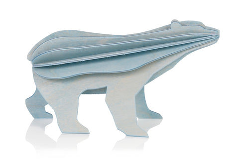 S Polar Bear, Light Blue (7cm)