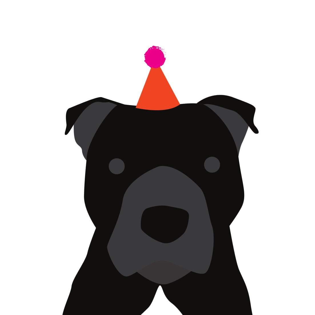 Heather Alstead Design Party Staffordshire Bull Terrier (Black) - Pink Envelope