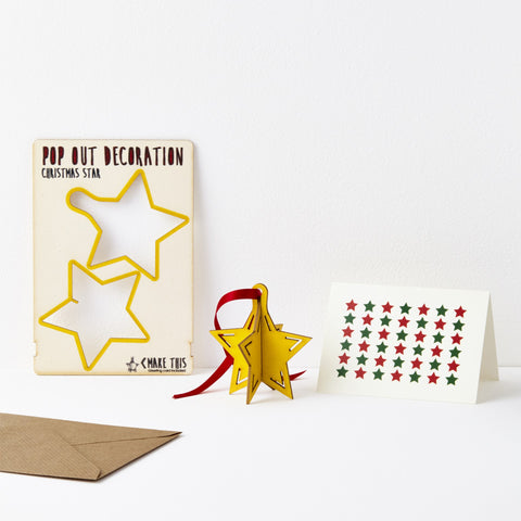 Pop Out Christmas Star Card