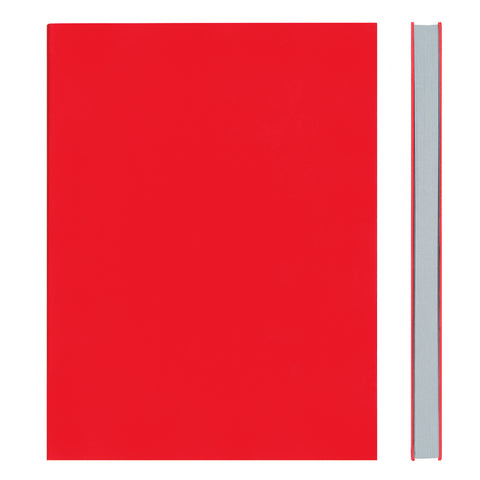 MEMMO FP Soft Touch Cover Lined Notebook A5, Red/Grey