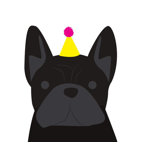 Heather Alstead Design Party French Bulldog (Black) - Yellow Envelope