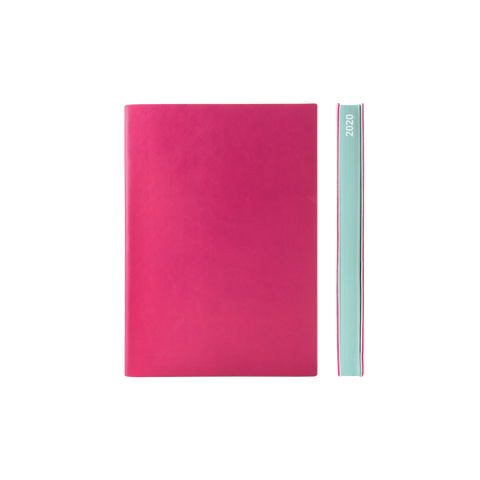 Signature 2021 Page-A-Day Diary (A6, Magenta)