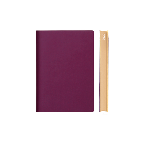 Signature 2021 Page-A-Day Diary (A6, Purple)