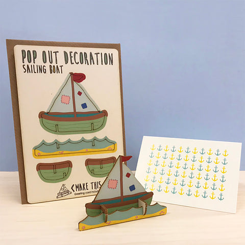 Pop Out Sailing Boat Card
