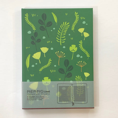 Botanical Green Notebook (A5, Lined)