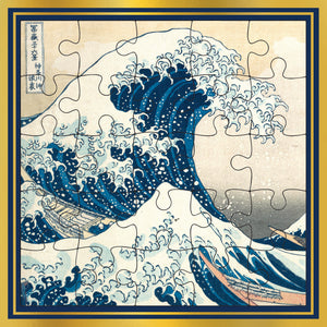 Hokusai Wave Puzzle Card