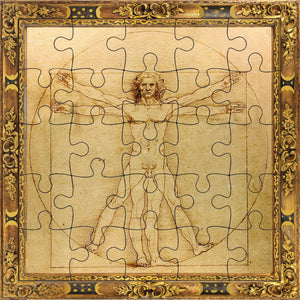 The Vitruvien Man Puzzle Card