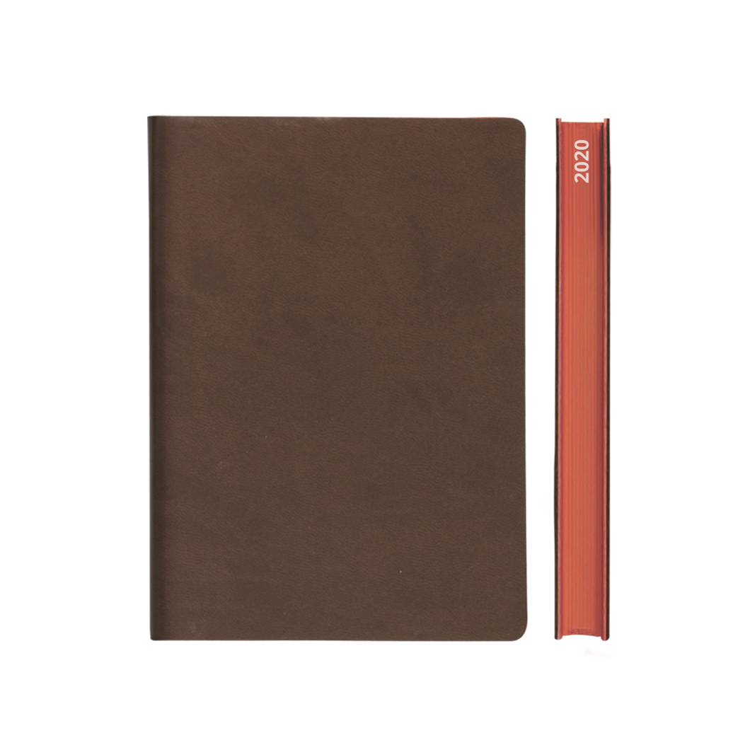 Signature 2020 Page-A-Day Diary (A5, Brown)