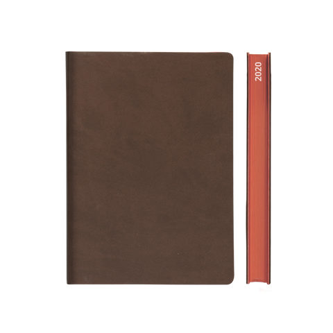 Signature 2021 Page-A-Day Diary (A5, Brown)