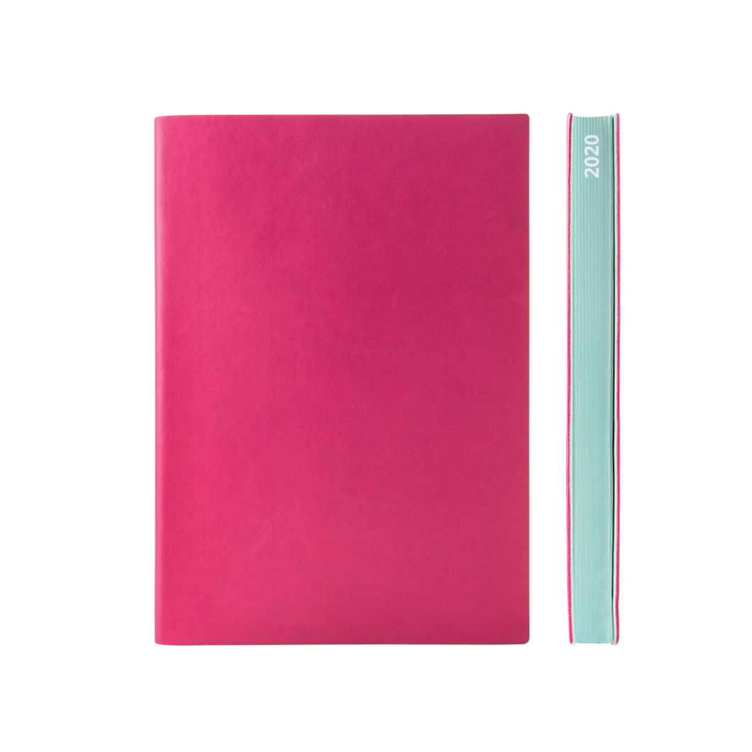 Signature 2020 Page-A-Day Diary (A5, Magenta)