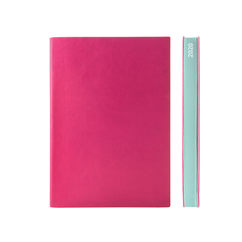 Signature 2021 Page-A-Day Diary (A5, Magenta)
