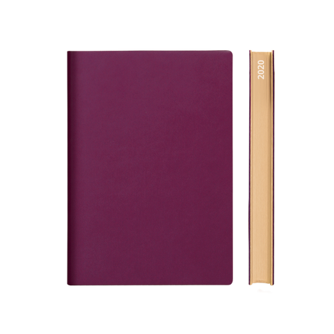 Signature 2021 Page-A-Day Diary (A5, Purple)