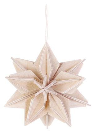 L Star Ornament, Natural (10cm)