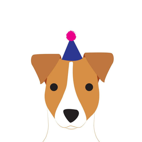Heather Alstead Design Party Jack Russell - Pink Envelope