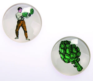 Gangzai Design Set of 2 Magnets - Arti Show