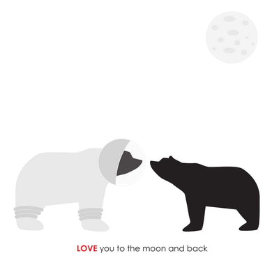 Heather Alstead Design Love You To The Moon Card