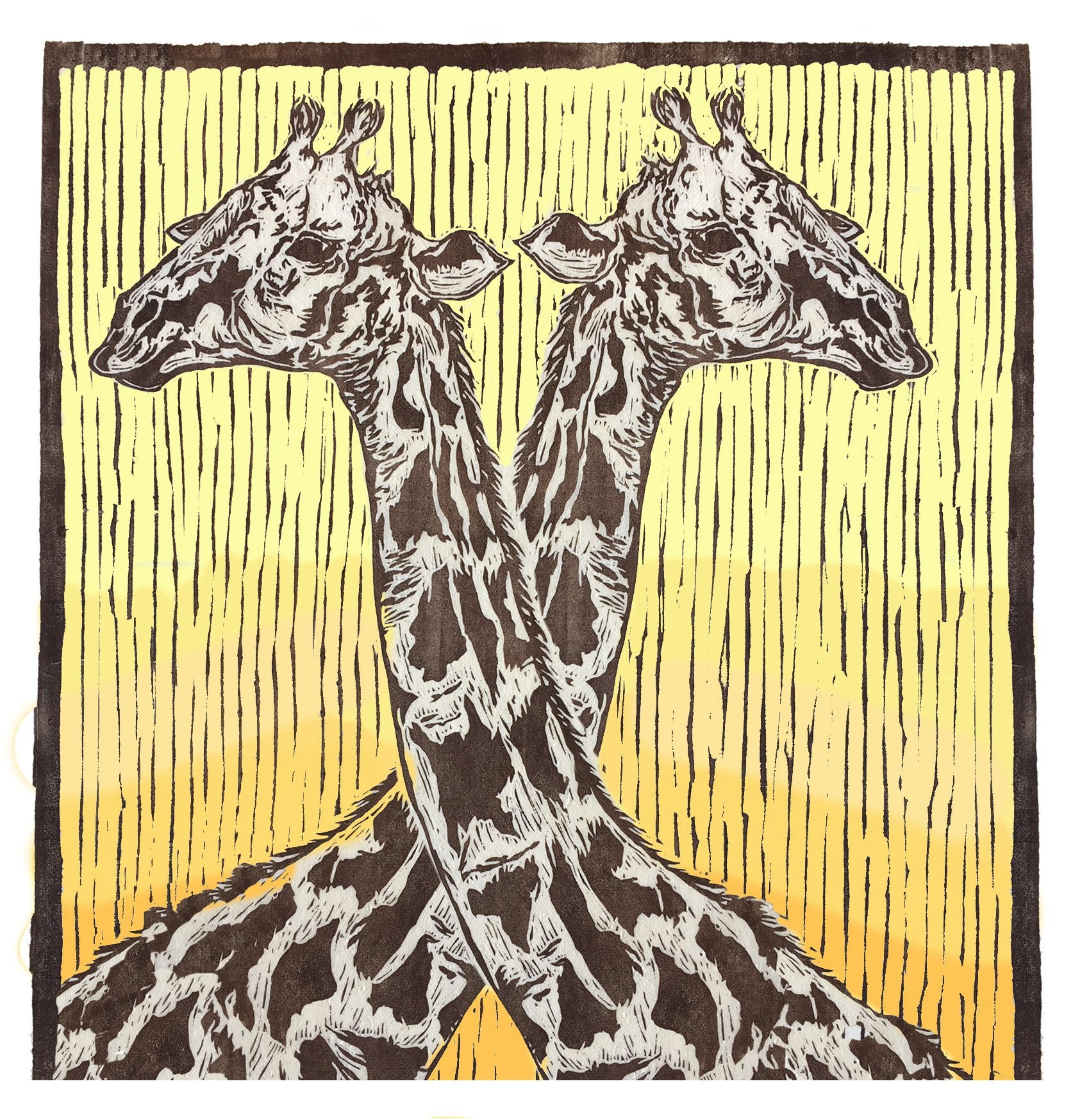 Sarah Cemmick Lino Cuts Two Heads