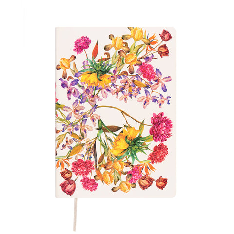 MEMMO Luxe Flower Lined Notebook A5, White
