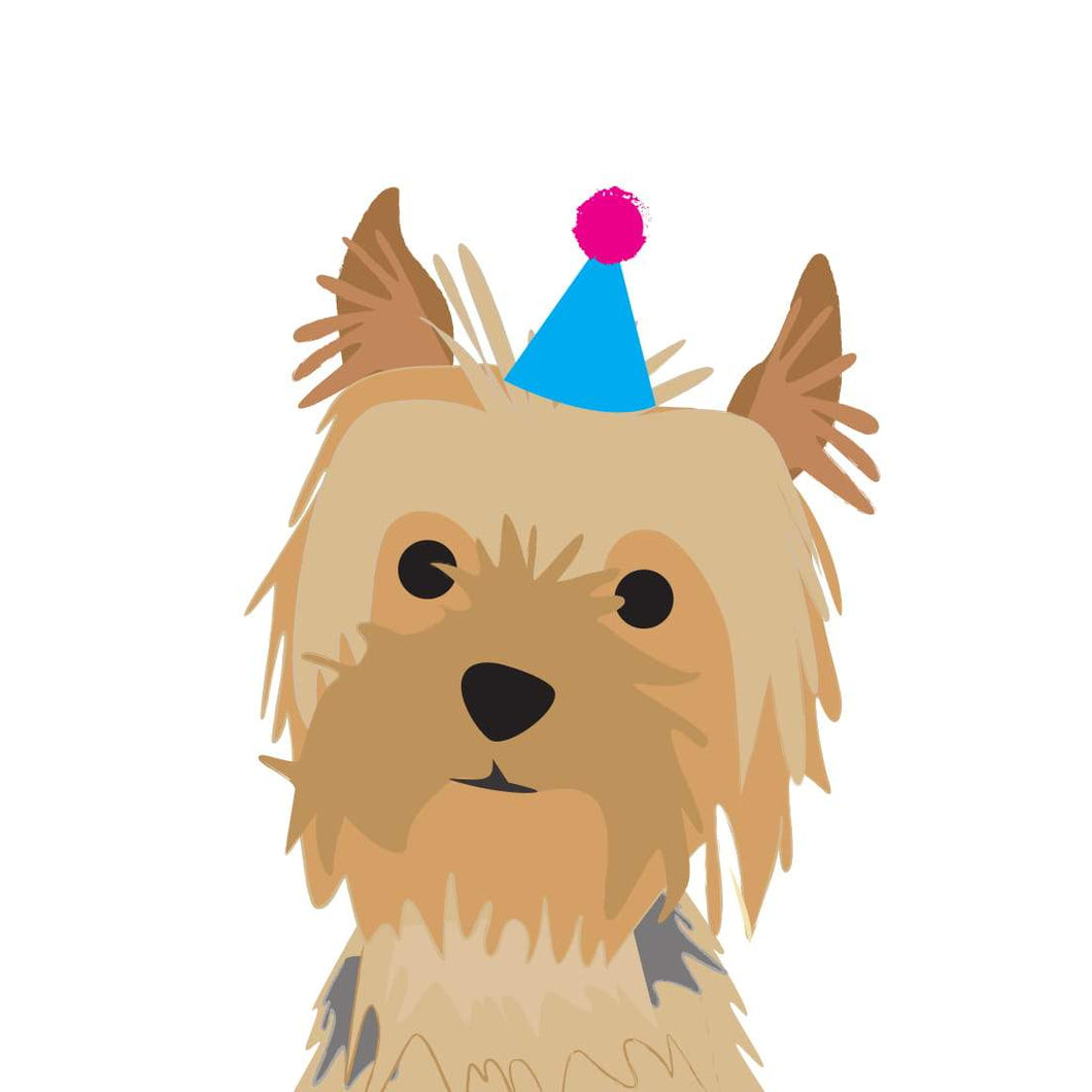 Heather Alstead Design Party Yorkshire Terrier - Pink Envelope