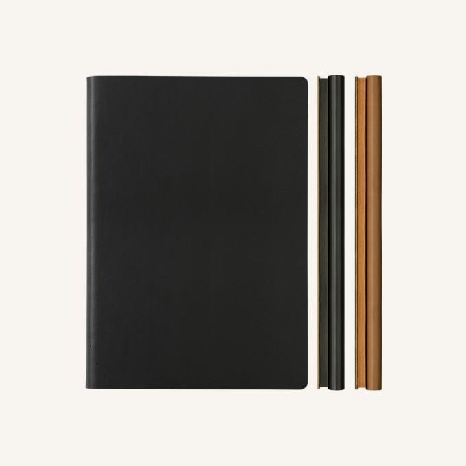 Daycraft Signature Duo Notebook - Black / Brown