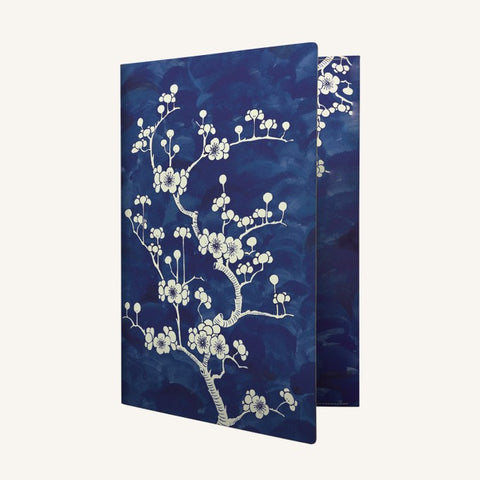 Flower Wow A4 Envelope Folder (Ceramic Blue)