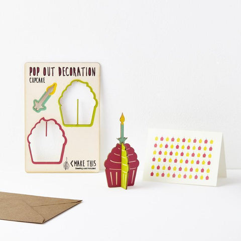 The Pop Out Card Company Pop Out Cupcake Card