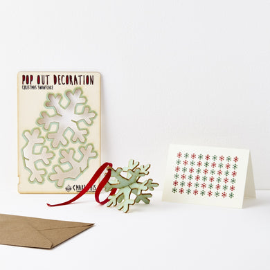 Pop Out Christmas Snowflake Card
