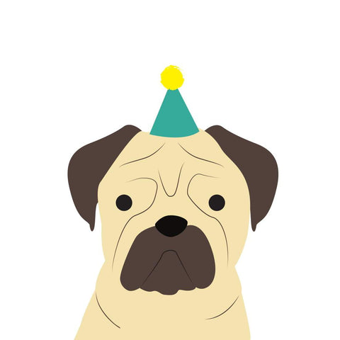 Heather Alstead Design Party Pug - Yellow Envelope