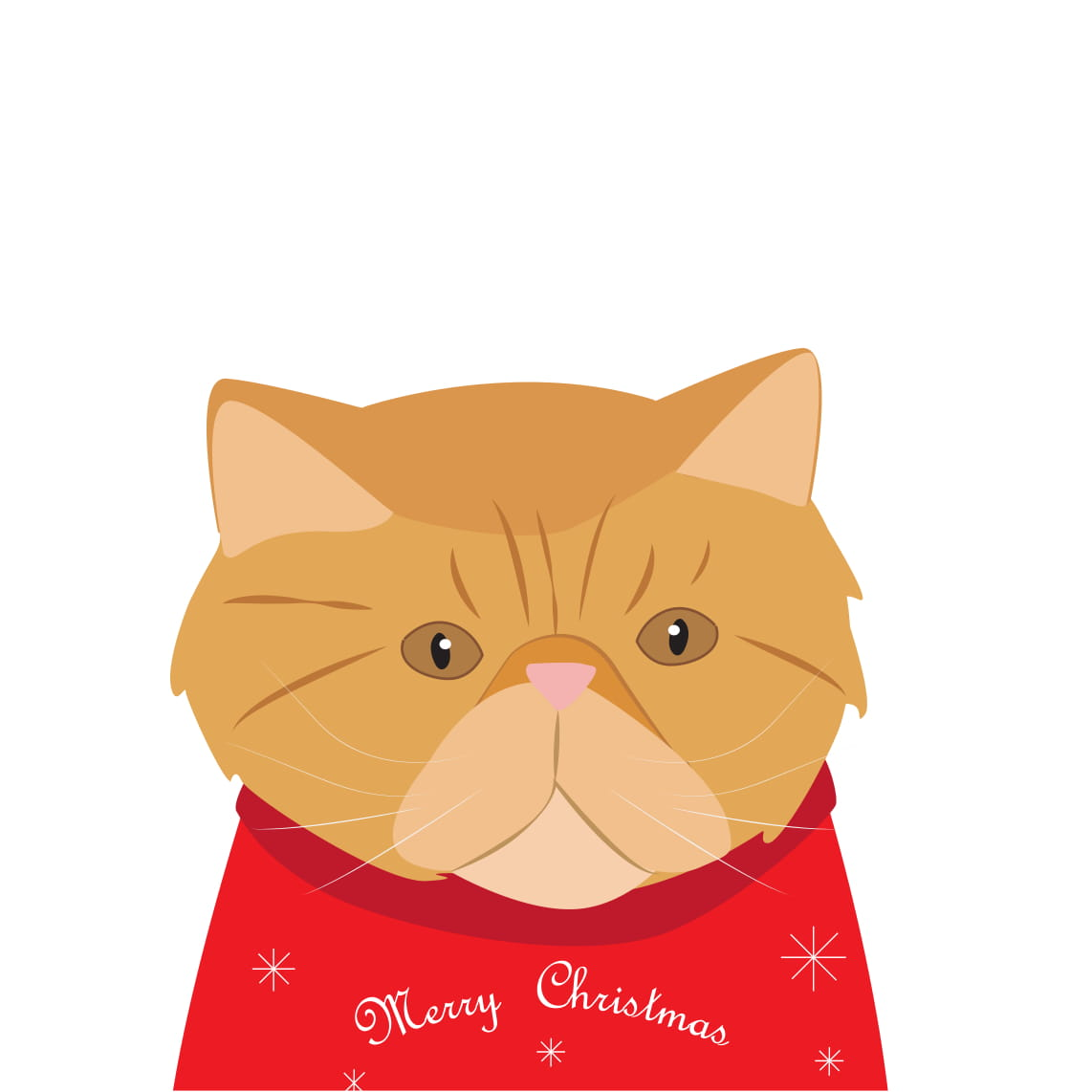 Christmas Sweater Card (Ginger Persian)