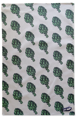 Gangzai Design Tea Towel - Artichokes