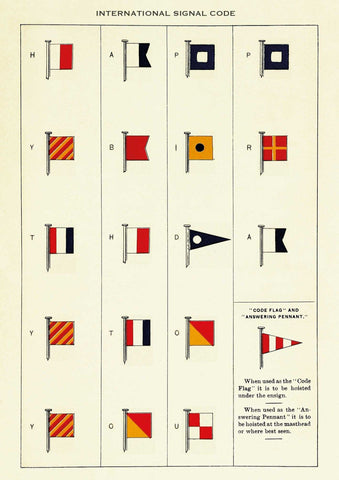 The Pattern Book International Signal Code