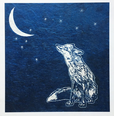 Sarah Cemmick Lino Cuts On Moonlight Bay